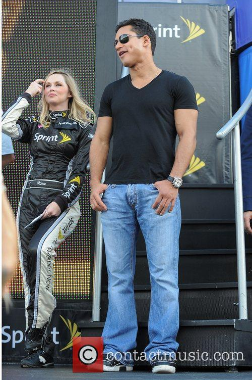 Mario Lopez appears at the NASCAR Sprint Cup...