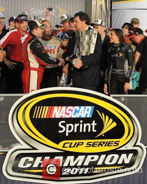 Tony Stewart wins the NASCAR Sprint Cup Series...