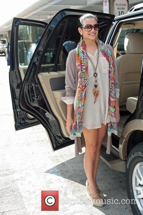 Natalia Jimenez is seen arriving at Luis M...