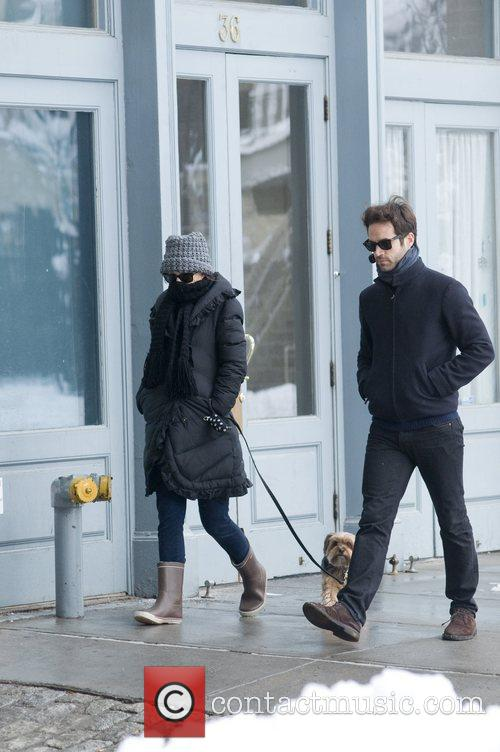 Natalie Portman and Benjamin Millepied out walking their...