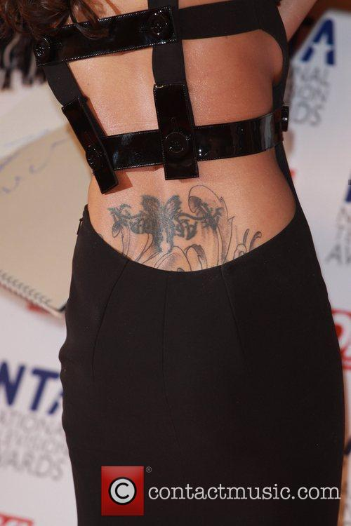 Cheryl Cole's back tattoo The National Television Awards...