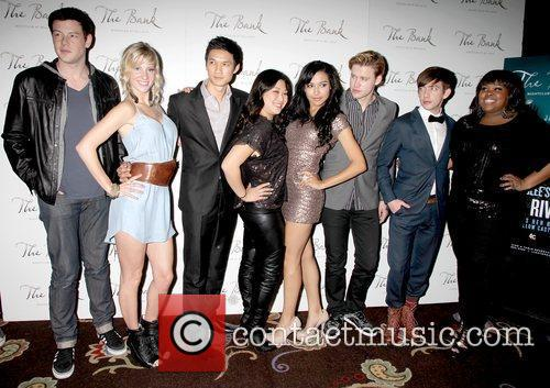 Cory Monteith, Amber Riley, Glee, Heather Morris, Kevin Mchale, Las Vegas and Naya Rivera 5