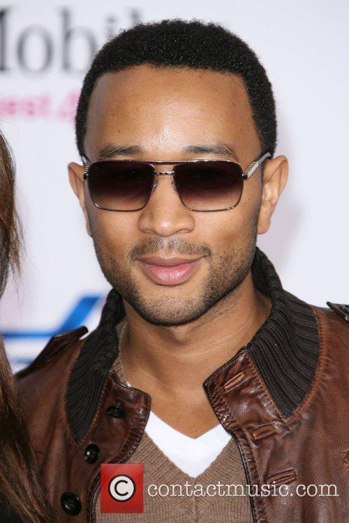 John Legend T-Mobile Magenta Carpet At The 2011...