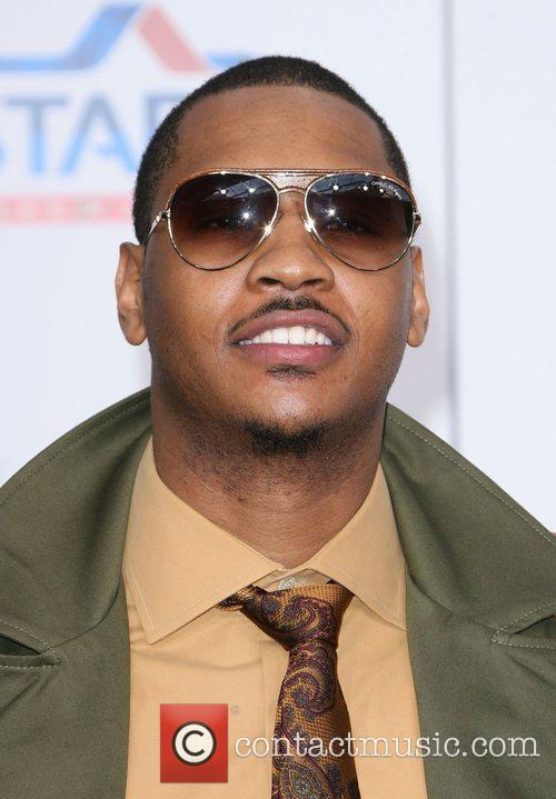 Carmelo Anthony T-Mobile Magenta Carpet At The 2011...
