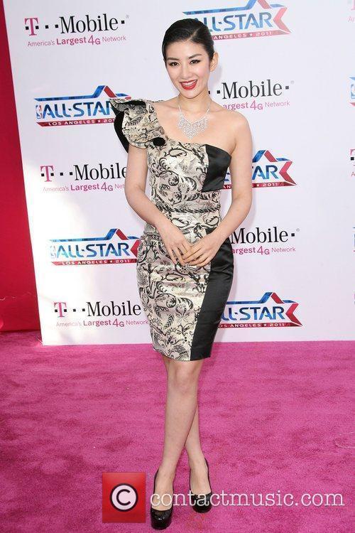 Huang Yi T-Mobile Magenta Carpet At The 2011...