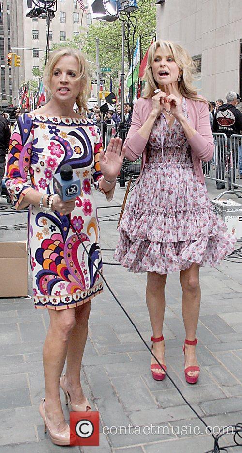 Jane Hanson interviews Christie Brinkley  outside NBC...
