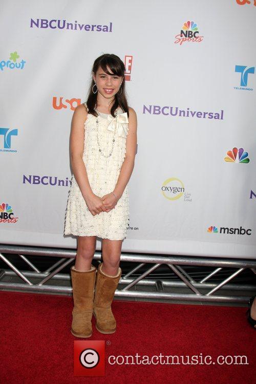 Emily Evan Rae  Arriving at the NBC...