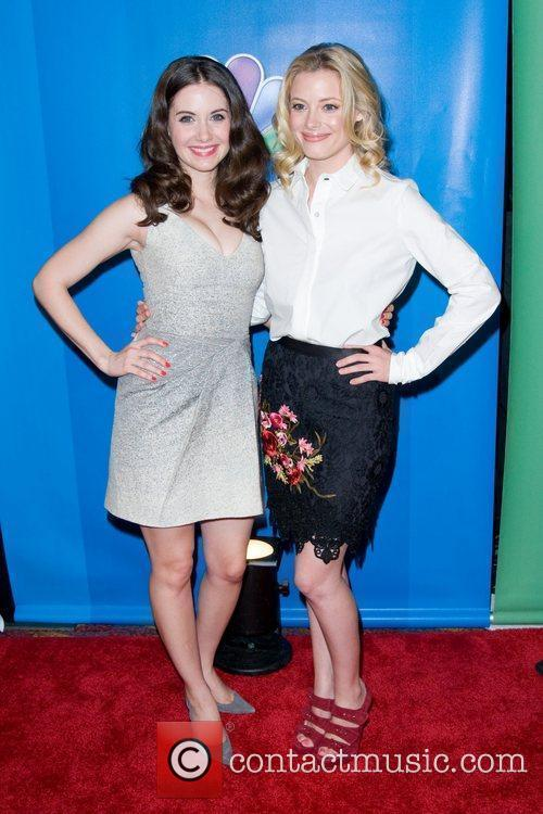 Alison Brie and Gillian Jacobs 2011 NBC upfront...