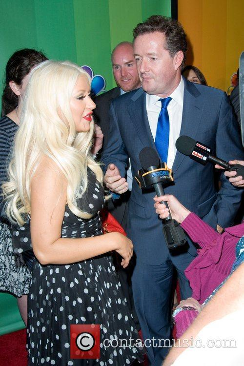 Christina Aguilera and Piers Morgan 10