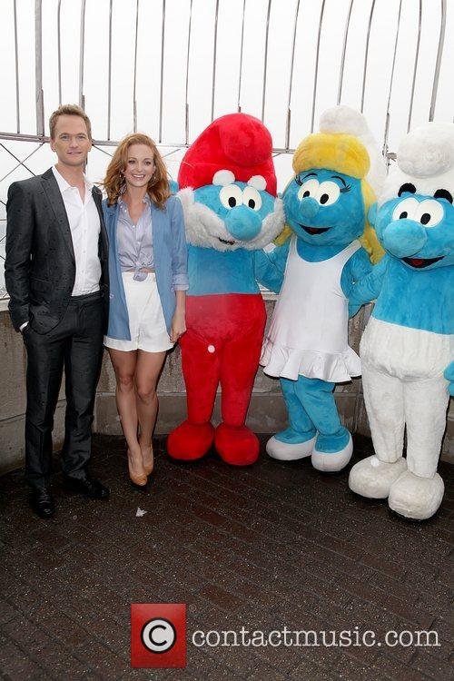 Neil Patrick Harris and Jayma Mays attend the...
