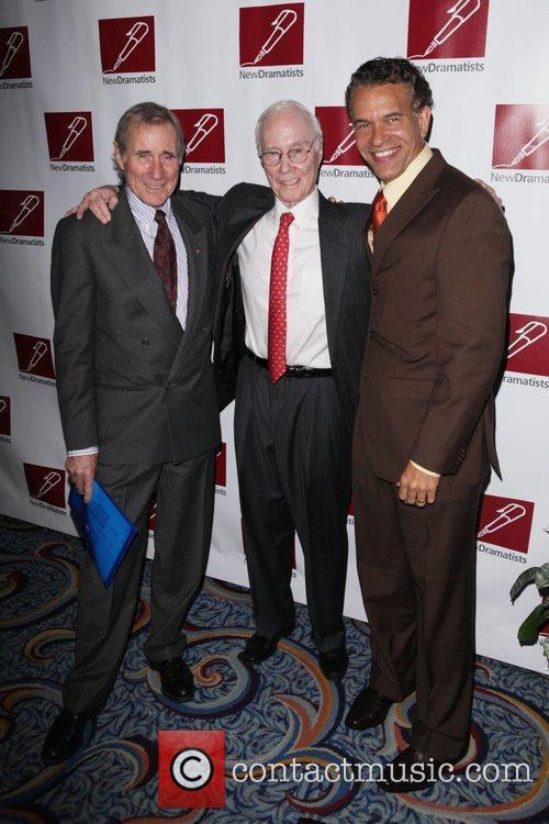 Jim Dale, Roger Berlind and Brian Stokes Mitchell...