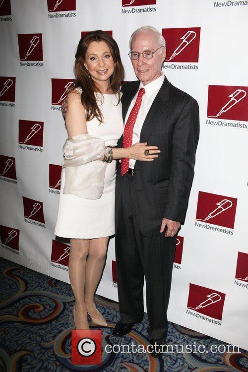 Nina Arianda and Roger Berlind  New Dramatists...
