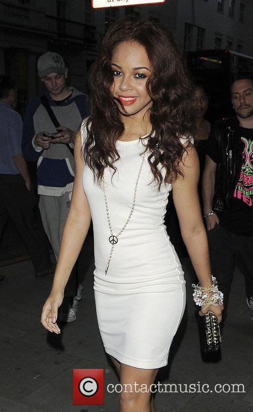 Singer Alexis Jordan arriving at the 'New Look...