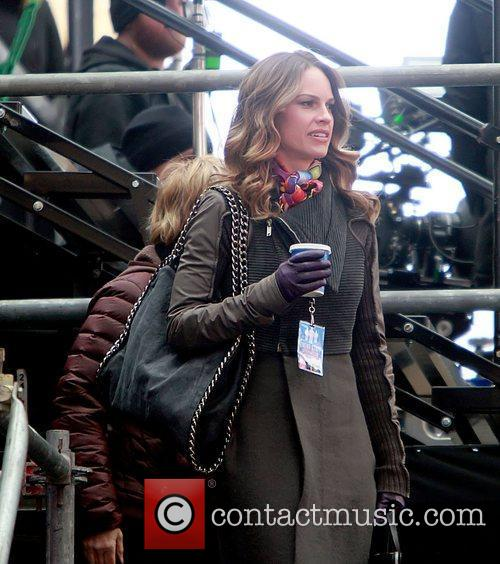 On the film set of 'New Year's Eve',...