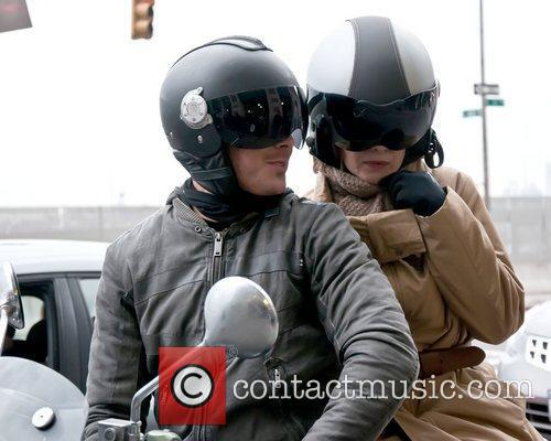 Zac Efron and Michelle Pfeiffer filming a stunt...