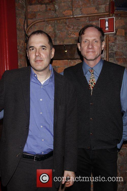 David Auburn and Marc Brokaw Opening night after...