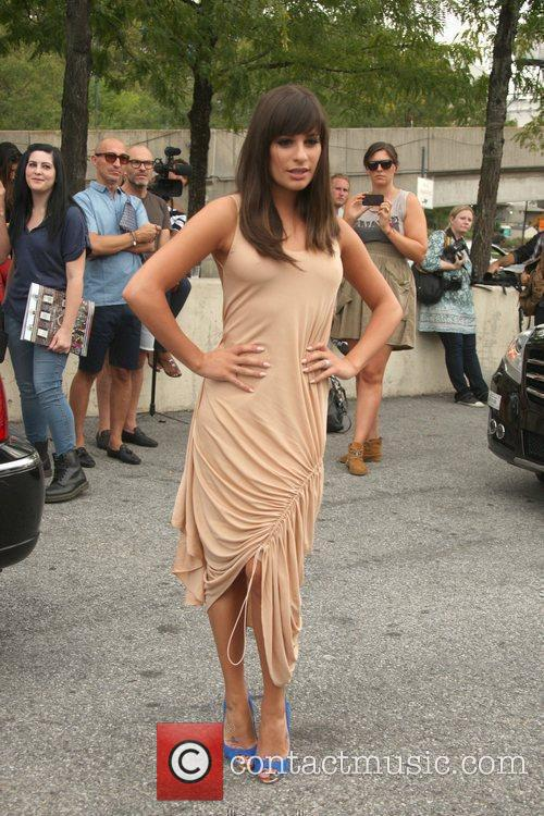 Glee, Lea Michele and New York Fashion Week 4