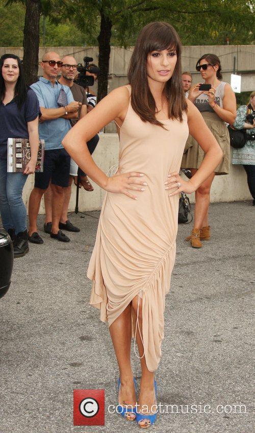 Lea Michele and New York Fashion Week 1