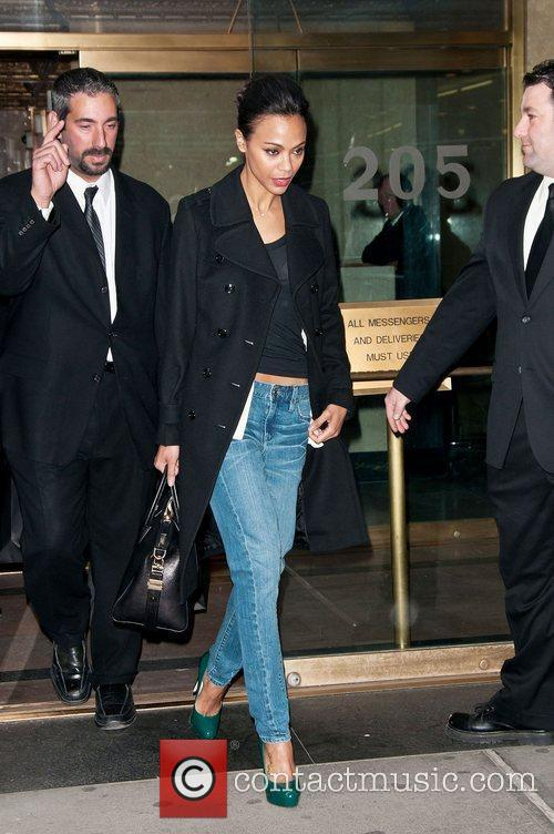 Zoe Saldana, Calvin Klein, New York Fashion Week