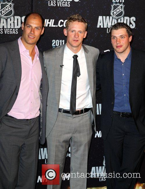 Ryan Getzlaf, Corey Perry and Bobby Ryan The...