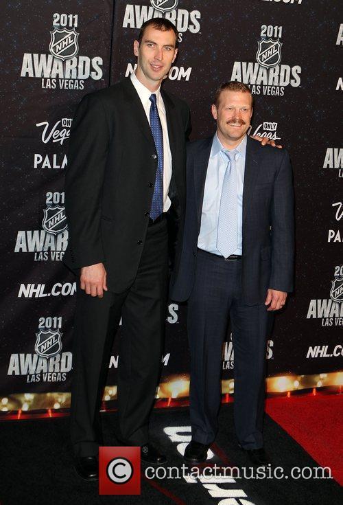 Zdeno Chara and Tim Thomas The NHL Awards...