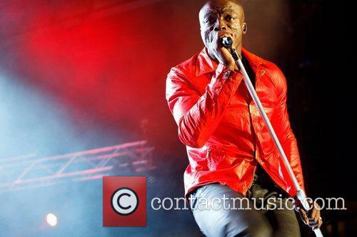 Singer, Seal,  performing on stage at the...