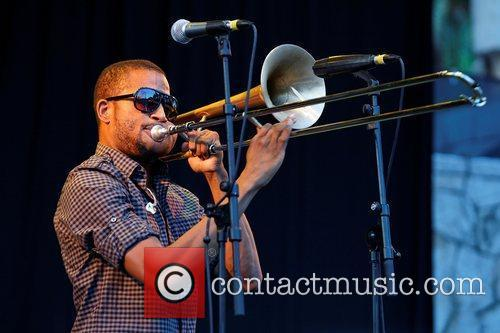 Troy Andrews of Trombone Shorty & Orleans Avenue,...