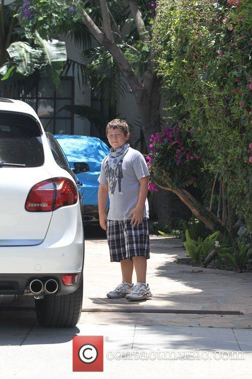 Frankie Jonas outside a private residence in Toluca...