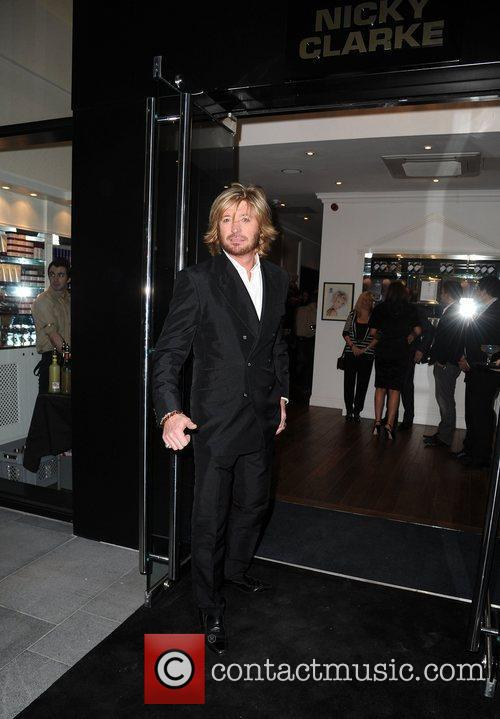 Nicky Clarke,  at the hair salon launch...