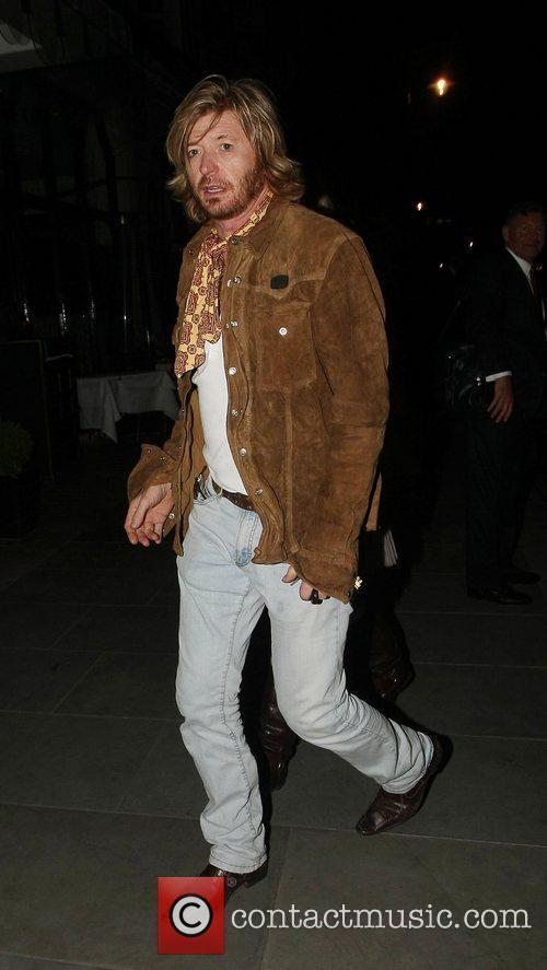Nicky Clarke leaving Scott's restaurant London, England