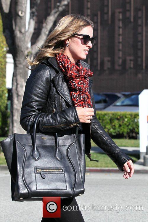 Nicky Hilton exits Byron & Tracey salon stylishly...