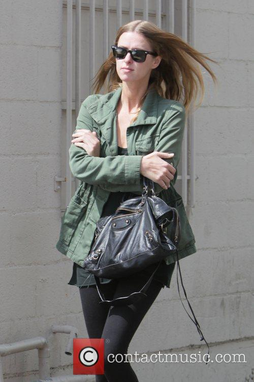 Nicky Hilton is seen leaving the back of...