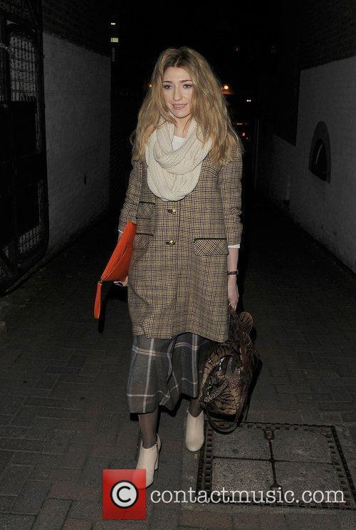 Nicola Roberts leaving her management offices, after a...