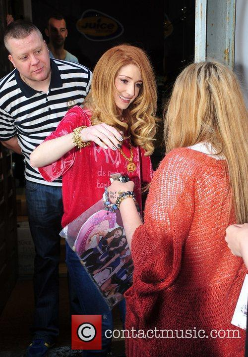 Nicola Roberts  is greeted by fans at...