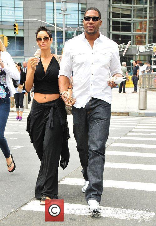 Nicole Murphy, Michael Strahan and Midtown 1