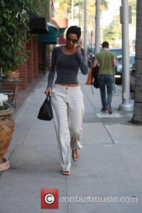 Arriving at a nail salon in Beverly Hills.