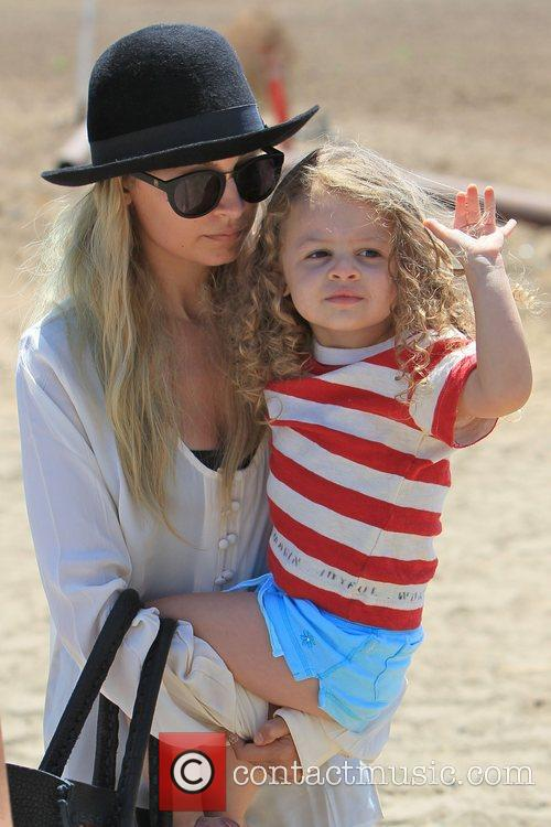 Nicole Richie and her daughter Harlow are seen...