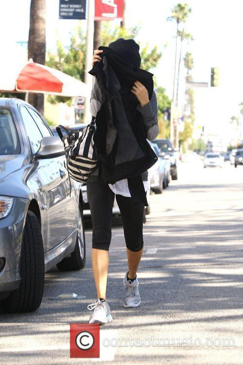 Nicole Richie leaves the gym in Studio City....