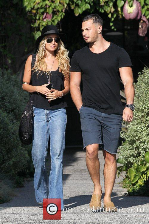 Nicole Richie and her hair stylist depart the...
