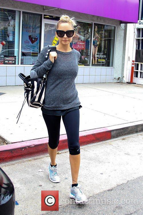 Nicole Richie leaves the gym