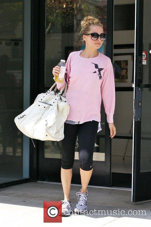 Departs a gym in Studio City