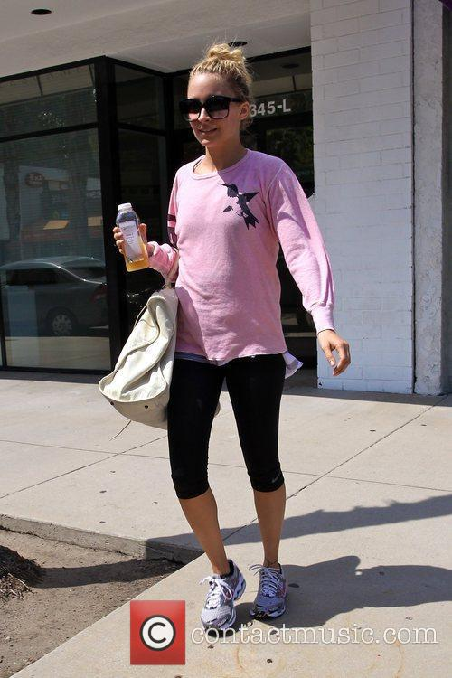 Nicole Richie departs a gym in Studio City...
