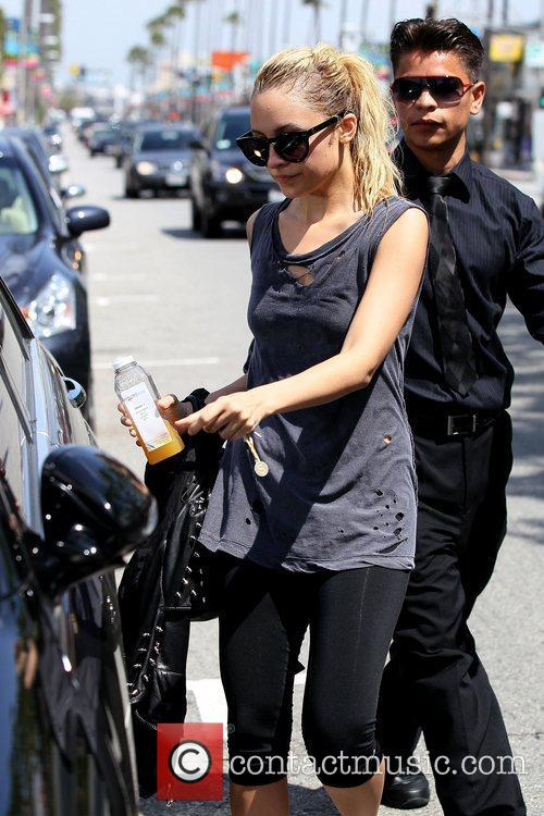 Nicole Richie leaving her gym in Studio City...