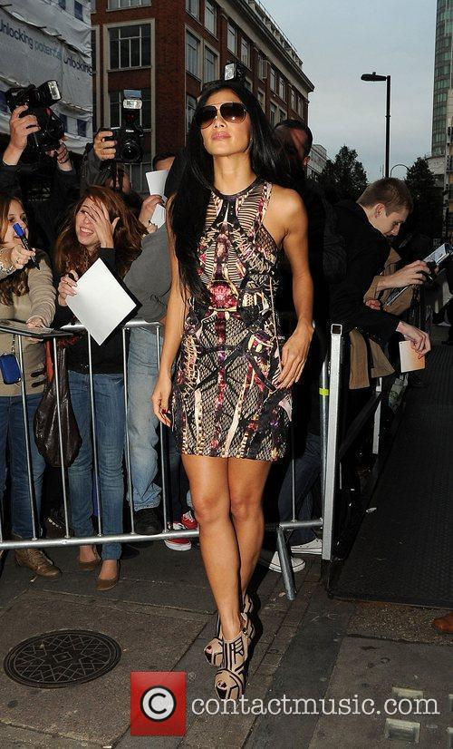 nicole scherzinger outside the bbc radio 1 3581558
