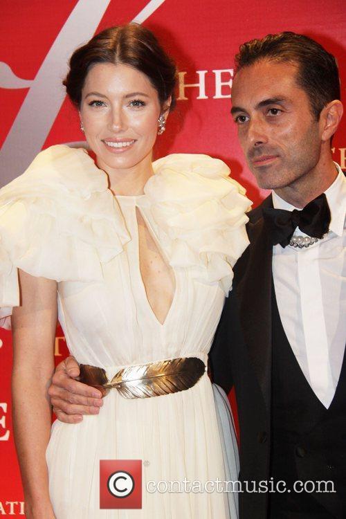 Jessica Biel and Giambattista Valli attends Fashion Group...