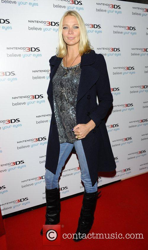 Jodie Kidd launch of 'Nintendo 3DS' at Old...