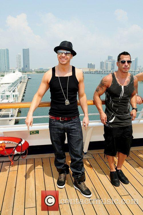 Donnie Wahlberg, Danny Wood Members of NKOTB attend...