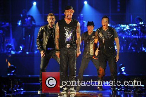 Nick Carter, A.J. McLean, Brian Littrell and Howie...