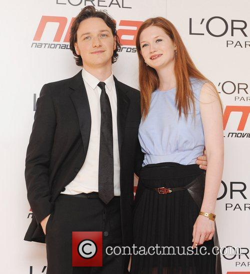 James McCavoy and Bonnie Wright ,  National...