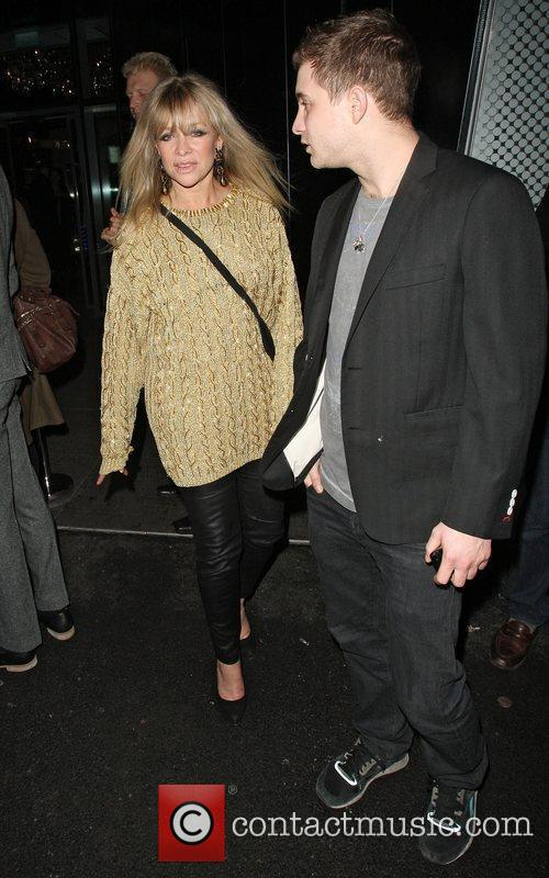Jo Wood Celebrities outside the NME Awards after...